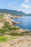 North West coastline of Sardinia. North West coastline near Bosa of Sardinia island. Italy royalty free stock photo