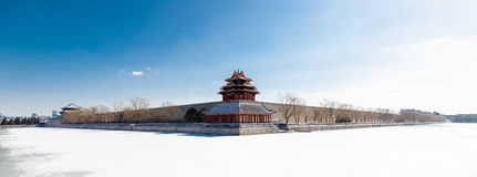 The north west corner of the forbidden palace, beijing, china Stock Photography