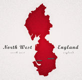 North West England Art Map Stock Image