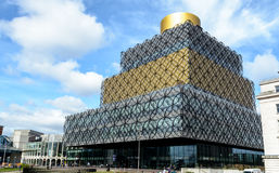 North West Facade of Library of Birmingham Broad Street Royalty Free Stock Image