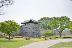 North-West GunTower of Suwon Hwaseong, called Bukseoporu Stock Photos