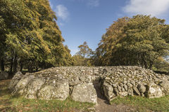 North west passage grave at Clava Cairns in Scotland. Stock Images