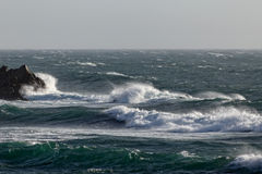 North wind waves Stock Image
