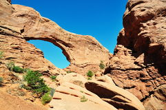 North window arch at arches national park Stock Images