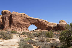 North Window Arch in Arches National Park Stock Photography