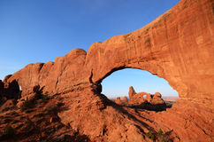 North Window Framing Turret Arch Stock Image