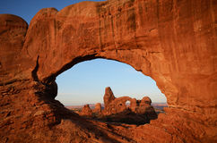 North Window Framing Turret Arch Royalty Free Stock Image