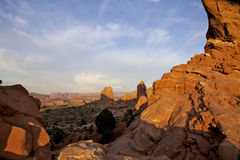 North Window View Arches National Park Royalty Free Stock Images