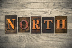 North Wooden Letterpress Theme Royalty Free Stock Photography