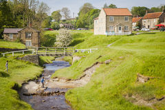North York Moors. Hutton-le-Hole, a small village in North York Moors National Park Stock Images