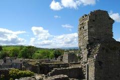 North Yorkshire bygd från torn på den Middleham slotten Fotografering för Bildbyråer