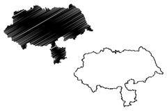 North Yorkshire-kaartvector royalty-vrije illustratie