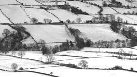 North Yorkshire Moors. Winter scene royalty free stock images