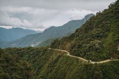 The North Yungas Road in Bolivia royalty free stock photography