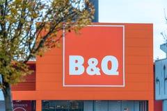 Northampton, Regno Unito - 26 ottobre 2017: Vista del logo di Bq in Nene Valley Retail Park Fotografia Stock