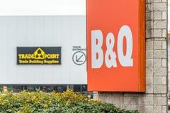 Northampton, Regno Unito - 26 ottobre 2017: Vista del logo del punto commerciale di Bq in Nene Valley Retail Park Fotografie Stock