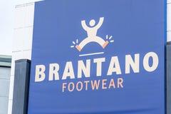Northampton, Regno Unito - 26 ottobre 2017: Vista di un logo delle calzature di Brantano in Nene Valley Retail Park Immagine Stock
