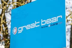 Northampton UK December 09, 2017: Great Bear Distribution logo sign in Brackmills Industrial Estate Stock Photography
