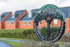 Northampton UK January 15 2018: British Timken Art Memorial in Duston Royalty Free Stock Photos