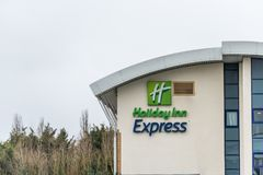 Northampton UK January 23 2018: Holiday Inn Express Hotel logo sign in Grange Park Industrial Royalty Free Stock Photos
