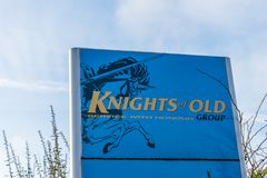 Northampton UK January 10, 2018: Knights Of Old Service Of Honour logo sign post.  Stock Image