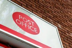 Northampton UK October 3, 2017: Post Office logo sign stand Northampton Royalty Free Stock Photo