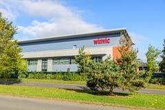 Northampton UK Oktober 3, 2017: Northampton för Winvic logotecken industriellt gods Arkivfoton