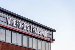 Northampton UK Styczeń 04, 2018: Wreford grupy logo podpisuje wewnątrz Sixfields teren przemysłowego Obraz Royalty Free