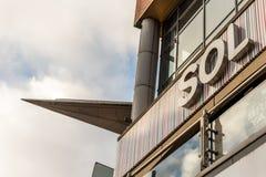 Northampton UK Styczeń 05, 2018: ZOLU logo podpisuje wewnątrz Northampton Grodzkiego centre Obrazy Royalty Free