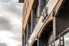 Northampton UK Styczeń 05, 2018: ZOLU logo podpisuje wewnątrz Northampton Grodzkiego centre Obraz Stock