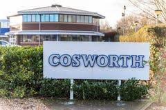 Northampton UK Styczeń 05 2018: Cosworth silników specjalisty loga znak Fotografia Royalty Free