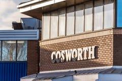Northampton UK Styczeń 05 2018: Cosworth silników specjalisty loga znak Zdjęcia Royalty Free