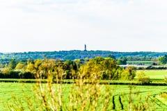 Northampton vårlandskap på ljus solig dag royaltyfria bilder