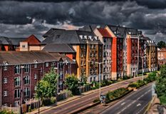 Northampton Views. Evening view of Northampton, UK in HDR Stock Image