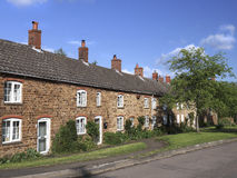 Northamptonshire Cottages. Row of typical Northamptonshire Cottages Stock Photos