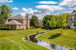 Northbrook wioski krajobraz, jest zamożnym przedmieściem Chicago, lokalizować przy północną krawędzią Kucbarski okręg administrac zdjęcia royalty free