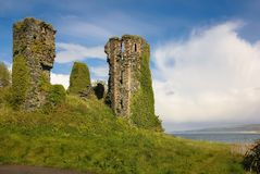 Northburgh Castle. Greencastle. Inishowen. Donegal. Ireland. Anglo norman keep of Northburgh Castle. Greencastle. Inishowen peninsula. county Donegal. Ireland Royalty Free Stock Photo