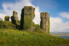 Northburgh Castle. Greencastle. Inishowen. Donegal. Ireland. Anglo norman keep of Northburgh Castle. Greencastle. Inishowen peninsula. county Donegal. Ireland Stock Photography