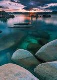 Northe Lake Tahoe solnedgång Royaltyfria Bilder