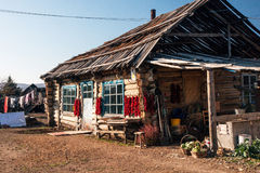 Northeast China farmhouse. Rural residences in northeast China Stock Photo