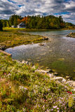 Northeast Creek, on Mount Desert Island in Bar Harbor, Maine. Royalty Free Stock Photo