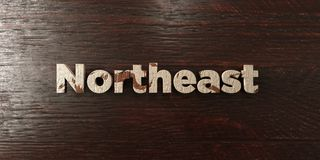 Northeast - grungy wooden headline on Maple  - 3D rendered royalty free stock image. This image can be used for an online website banner ad or a print postcard Stock Images