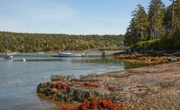 Northeast Harbor, Maine Stock Images