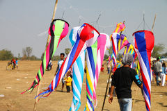 Northeast Kites Festival season. HUAI RAT, BURIRAM - DECEMBER 18 : The kites market in northeast of Thailand kites festival season on December 18, 2011 at sport stock photography