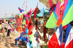 Northeast Kites Festival season. HUAI RAT, BURIRAM - DECEMBER 18 : The kites market in northeast of Thailand kites festival season on December 18, 2011 at sport stock photo