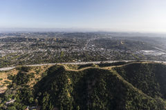 Northeast Los Angeles Aerial Royalty Free Stock Images