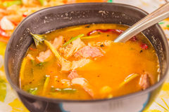 Northeast Thai style food called `Gaeng om nue` Royalty Free Stock Photography