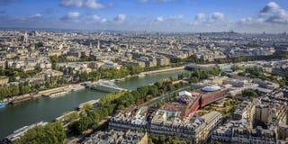 Northeast view of Paris Stock Image
