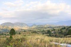Northeastern Chiapas landscape near El Chichonal volcano Royalty Free Stock Image