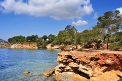 Northeastern coast of Ibiza Island, Spain Royalty Free Stock Images